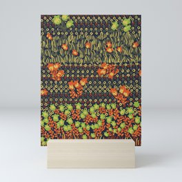 retro meadow Mini Art Print