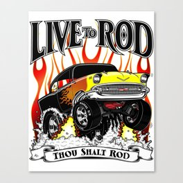 Kellys 57 - Live To Rod Canvas Print