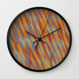 orange brown and blue painting texture abstract background Wall Clock