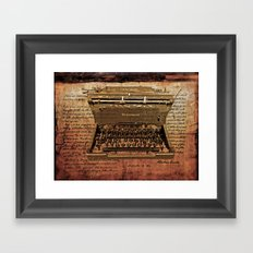 Abraham Lincoln You Did't Need to Type It Framed Art Print