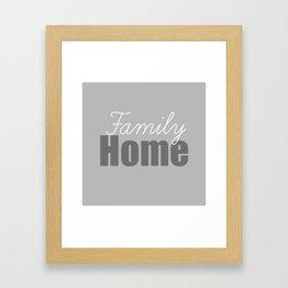 Family Home Framed Art Print