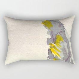 Yellow to Grey Rectangular Pillow