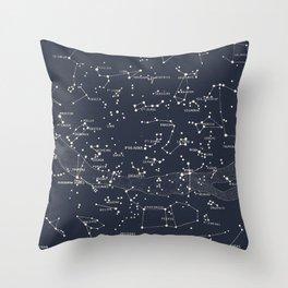 Carte du Ciel I Throw Pillow
