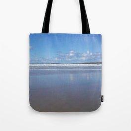 Blue and White Beach Tote Bag