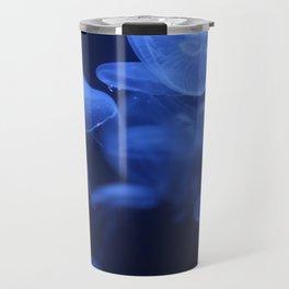 Jellyfish Glowing in Blacklight Photo Print 2 Travel Mug