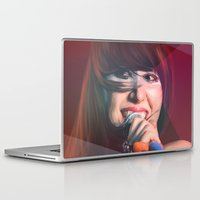 karen hallion Laptop & iPad Skins featuring Karen O by Camila Fernandez