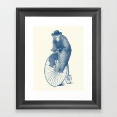 Morning Ride - Blue Option Framed Art Print
