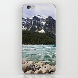 Winter Photography: Frozen Lake - Lake Louse, Banff, Canada iPhone Skin