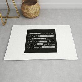 Area 51 Black Vault Document Rug