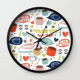 Caffeine Addict Wall Clock