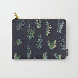 Green Garden in deep Blue Carry-All Pouch