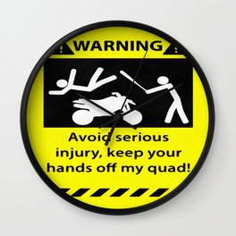 Quad Warning Wall Clock