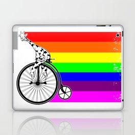 Giraffe riding a bike lgbq Laptop & iPad Skin