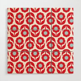 Joy collection - Red flowers Wood Wall Art