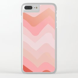 Summer Sunset Boho Waves Clear iPhone Case