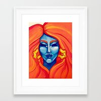 rupaul Framed Art Prints featuring I Adore You by Gracie Smith