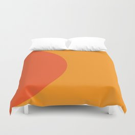 Orange Rising Duvet Cover
