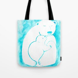 Bear Hugs Watercolor Tote Bag