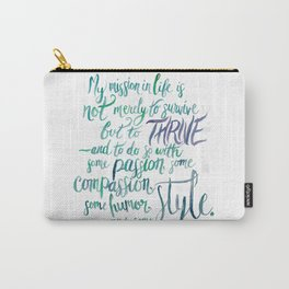 Maya Angelou Knows  Carry-All Pouch