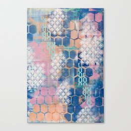 honeycomb and lace Canvas Print