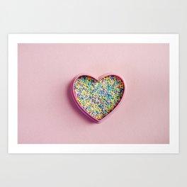 I heart sprinkles Art Print