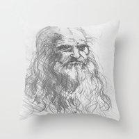 leonardo Throw Pillows featuring Leonardo by Kathryn Gabrielle Mauno