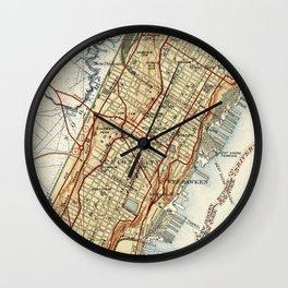 Weehawken, Union City & West New York Map (1935) Wall Clock
