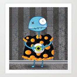 Little Lulu Unzicker with Her Favorite Pet Eye. Art Print