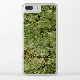 Green Camo Clear iPhone Case