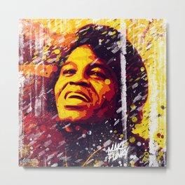 James Brown | Pop Art | Old School Collection Metal Print