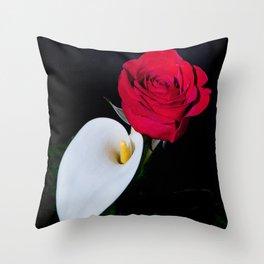 Calla Lily & Rose Throw Pillow