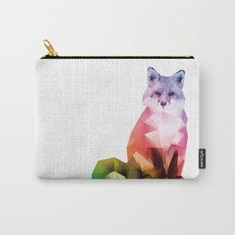 Sitting Rainbow Fox Carry-All Pouch