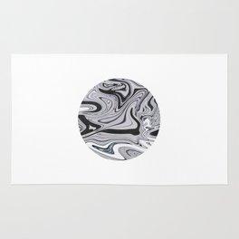 Minimal   Black & White Marble Rug