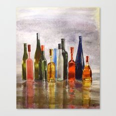 Bottles, oh Bottles! Canvas Print