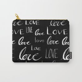 Painted Love on Black Carry-All Pouch
