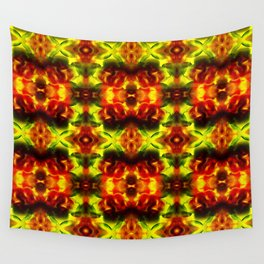 Yellow and red nightmare Wall Tapestry
