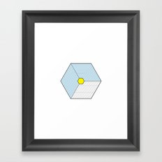 Hexagon Prism Framed Art Print