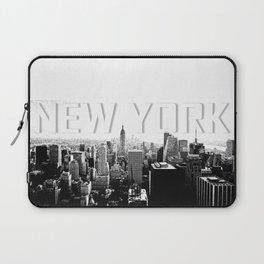 New York Black & White Sketch Laptop Sleeve