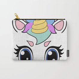 unicorn Face Magic Gift Present Carry-All Pouch