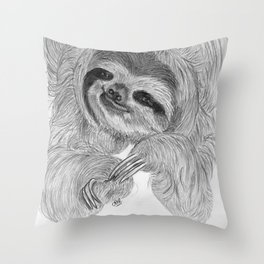 Just a sloth Throw Pillow