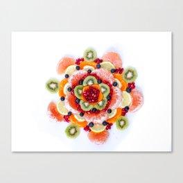 """What the Fruit"" Mandala Canvas Print"