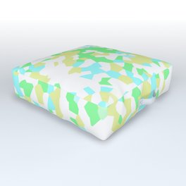 Blue, Yellow, and Green Mosaic Outdoor Floor Cushion