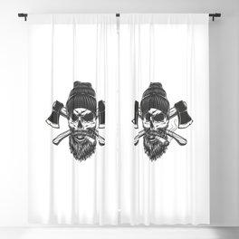 Vintage Lumberjack Skull Beanie Hat Blackout Curtain