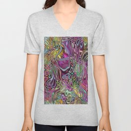 Flowers and candy abstract Unisex V-Neck