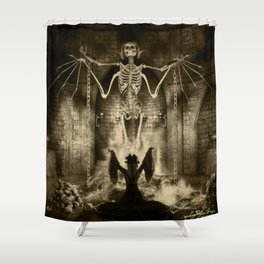Dark Victorian Portrait Series: Lady Charlotte Nightshade, Her Majesty's Necromancer Shower Curtain