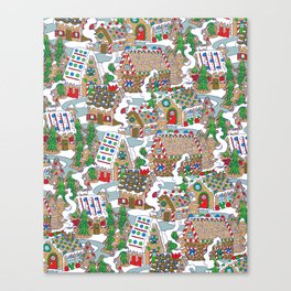 Gingerbread Village Canvas Print