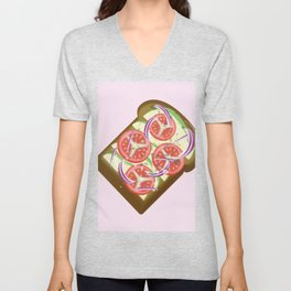 Avocado Tomato sandwich Unisex V-Neck