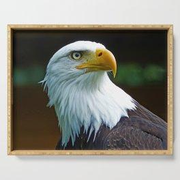 American Bald Eagle Head Serving Tray