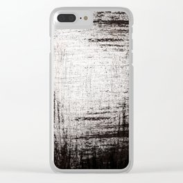 Sketchy Black and White Absrtaction Clear iPhone Case