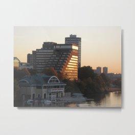 BU Boathouse Metal Print